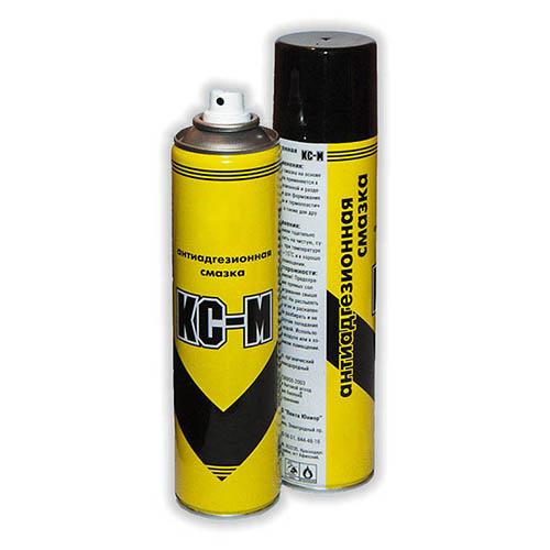 КС-М - касторовая смазка в аэрозольной упаковке