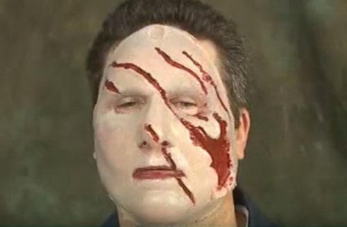 Силиконовая геленаполненная маска с порезами