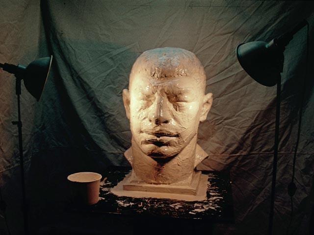 Имитация бронзовой головы