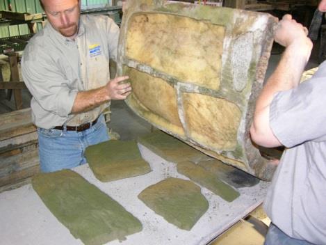 Изготовление бетонных камней в форме Vytaflex 40
