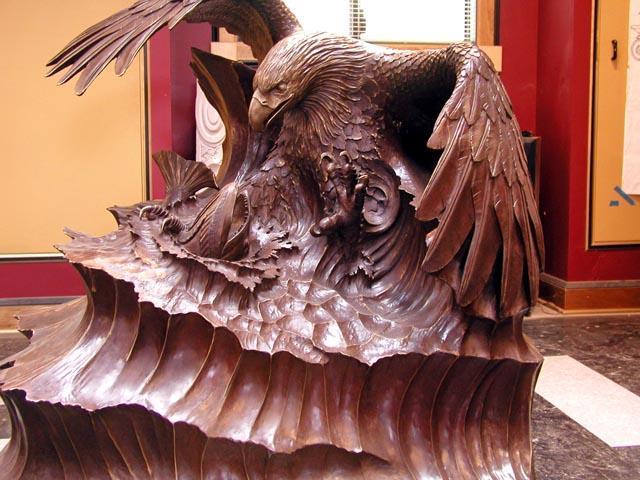 Создание формы со статуи орла