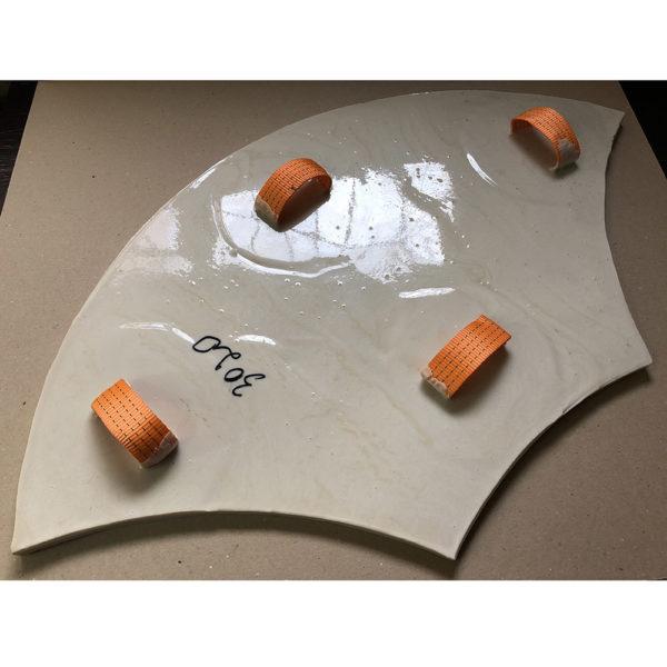 Полиуретановый штамп для печатного бетона Веер F3020