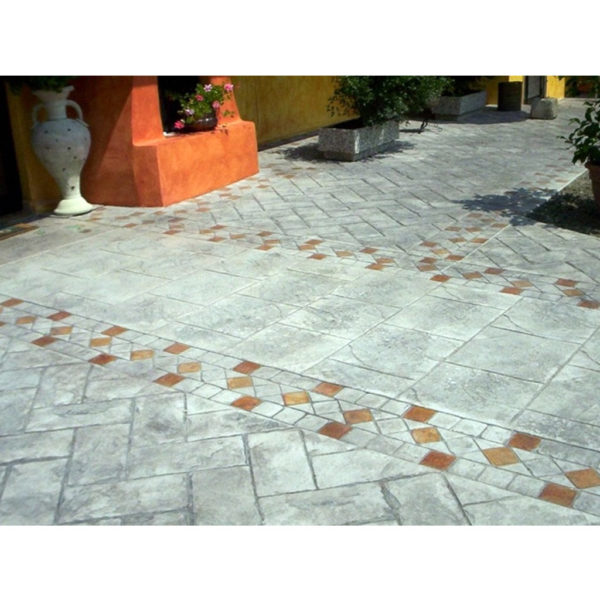 Готовый штамп для декоративного бетона Бордюр Венецианский алмаз F3200