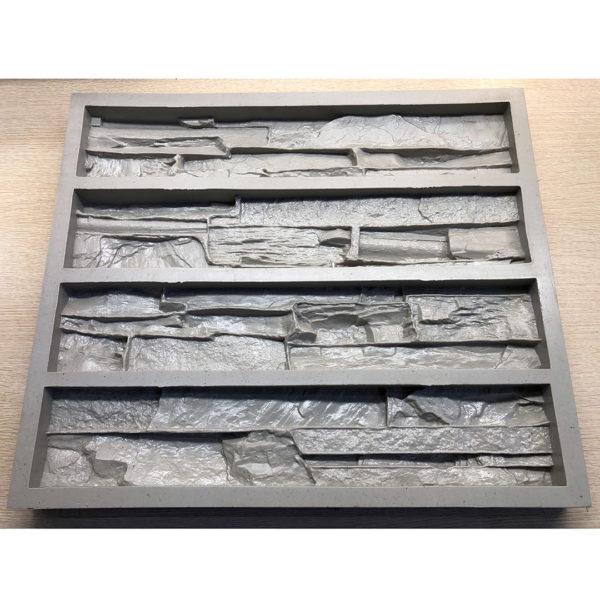 Полиуретановая форма для декоративного камня Сланец Скала F160A
