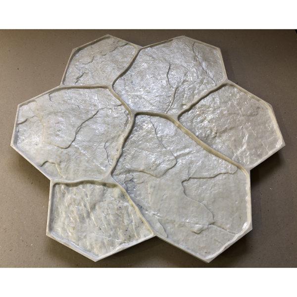 Штамп для печатного бетона Рваный камень F3010С