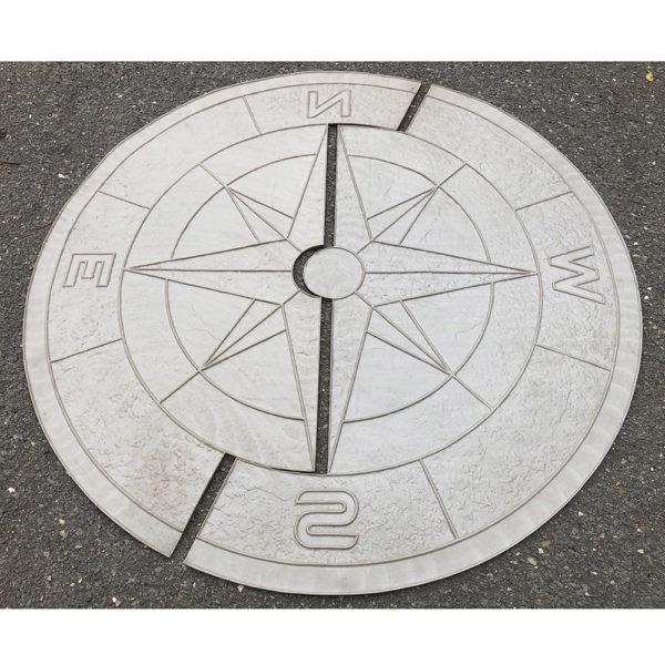 Готовый штамп для декоративного бетона Роза ветров F3241A
